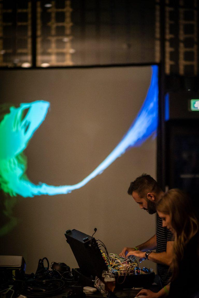 Live visual performance with HHNOI at Centraal Museum in Utrecht, Netherlands. Gaudeamus Music Week - September 5, 2019 (photo: Paulus Van Dorsten)