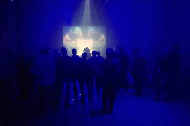 Live visual performance with HHNOI in Opwijk, Belgium. PULSE Modular Music Fest - June 15, 2019 (photo: Patsker Omaer Beguin)